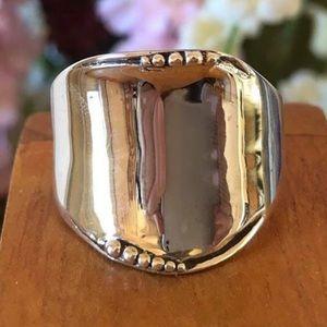 R1685 Silpada Silver Rolled Edge Cuff Ring